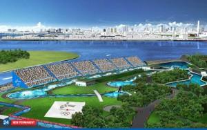 2016年招致計画時のカヌー競技場イメージ
