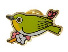 ご寄付で口数分の野鳥ピンバッジをプレゼント